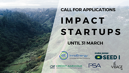 Call for application for sustainable impact startups