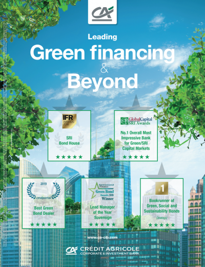 green financing, green, green bond, crédit agricole cib, awards, sri, sustainable, sustainable finance