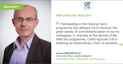 Quote of Arnaut Menonville, winner of the Helping Hand programme 2018